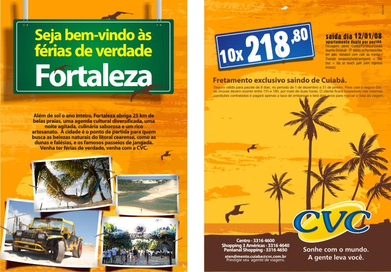Ilustrações para campanha para CVC cuiabá, pacotes de férias para ...